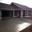 Pouring a driveway